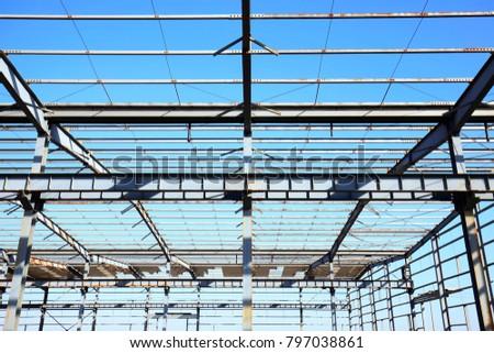 Factory workshop, steel structure #797038861