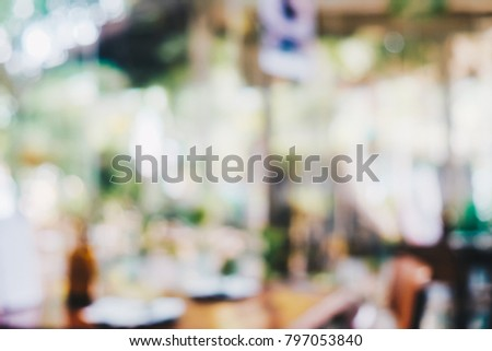 Abstract blurred old cafe bokeh with people in coffee shop #797053840