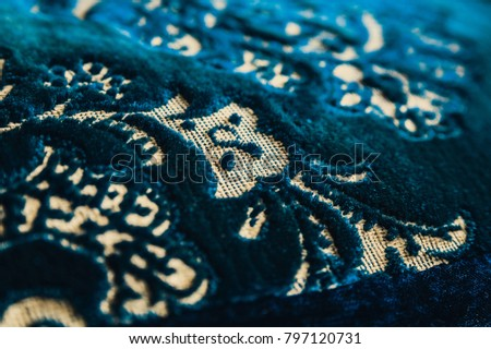 Texture of vintage rug pillow