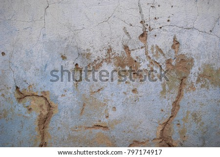 Grunge background with abstract colored texture. Old vintage scratches, stain, paint splats, spots. #797174917