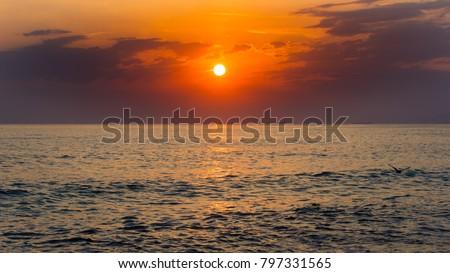 Stunning sea sunset #797331565