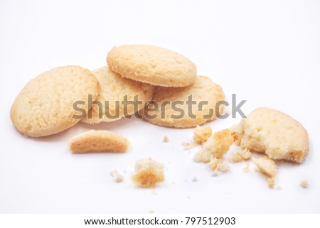 Butter Cookies on white background. #797512903