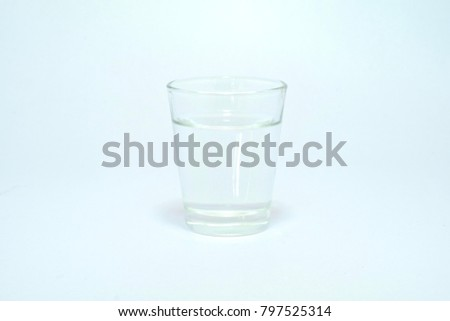 Clear glass for drinking water. #797525314