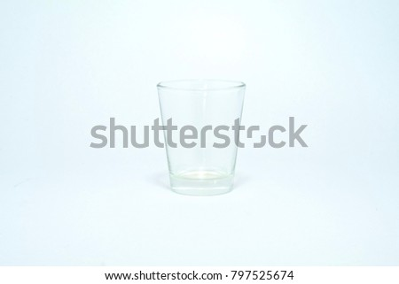 Clear glass for drinking water. #797525674