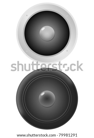 Two computer speakers #79981291