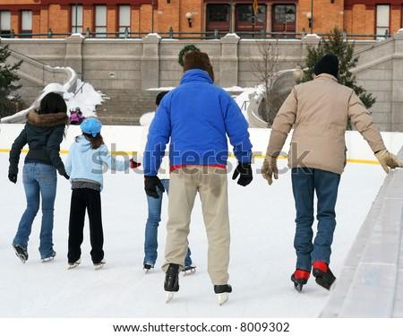 people ice skating #8009302