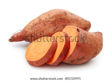 Sweet potato isolated on white background Royalty-Free Stock Photo #80150995