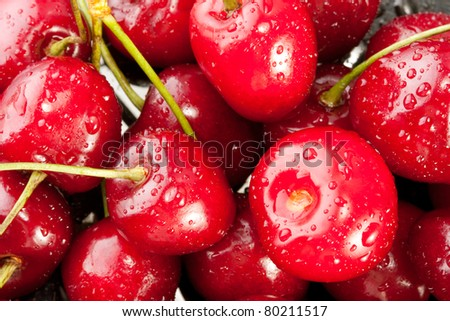 Heap of wet sweet berries. Background or texture #80211517