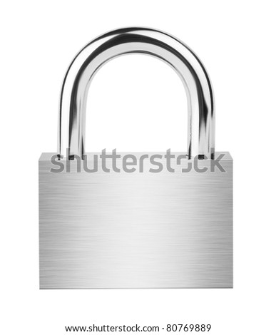 Padlock isolated on white background #80769889