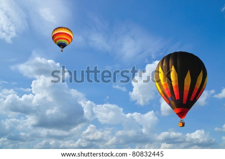 Balloon with blue sky and nice cloud in Thailand. #80832445