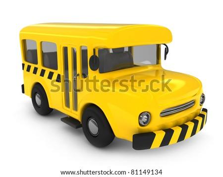 3D Illustration of a School Bus