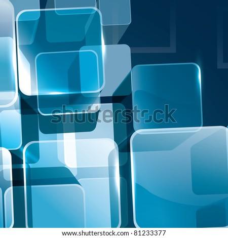 Raster Version of Vector 3D Transparent Cubes