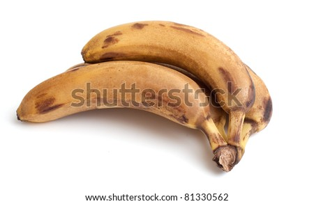 bunch of old bananas on white background #81330562