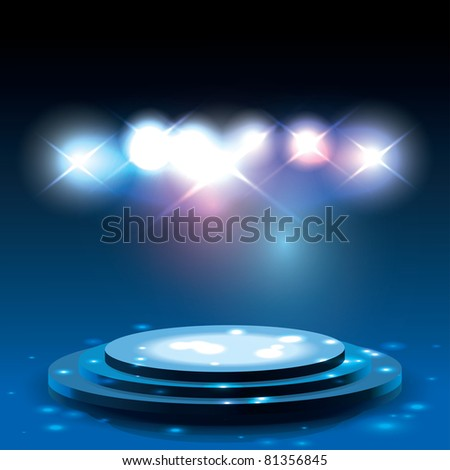 Raster Version of Vector Stage with Sparkles