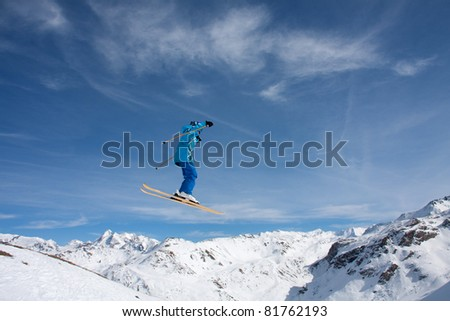 Skiers and snowboarders enjoying the snow park at Tignes Espace Killy France #81762193
