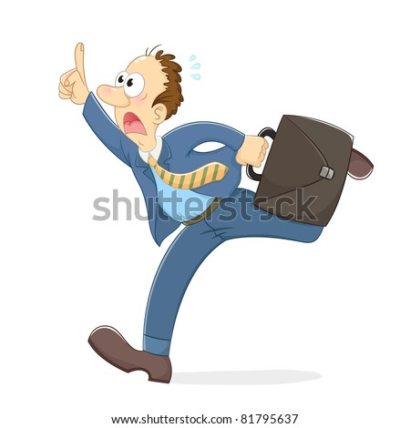 stressed running worker (vector version is available in my gallery)