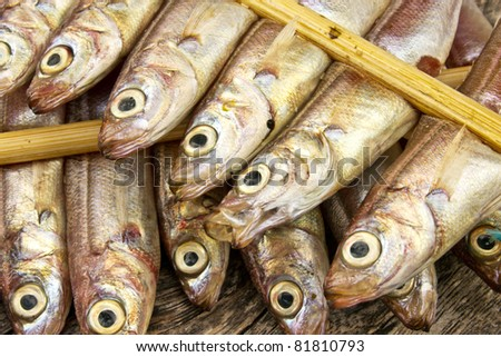 dry fish japanese butterfish #81810793