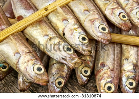 dry fish japanese butterfish #81810874