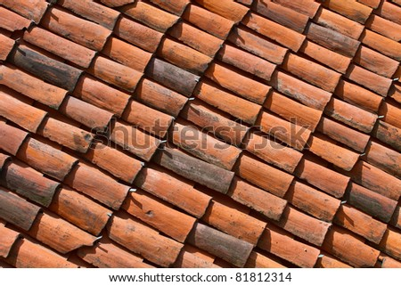roof tiles background texture #81812314