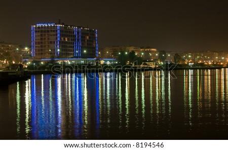 Thessaloniki seaside by night #8194546