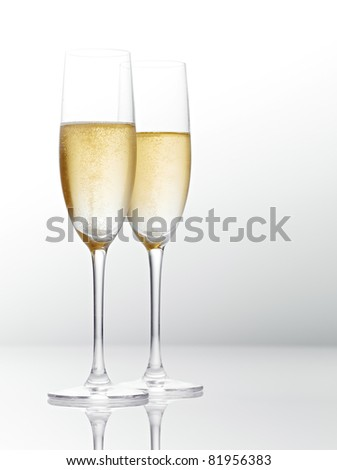 Two glasses of champagne. #81956383