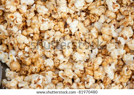 sweet popcorn embebed with candy