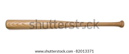 Closeup of baseball bat isolated on white background with clipping path. Royalty-Free Stock Photo #82013371