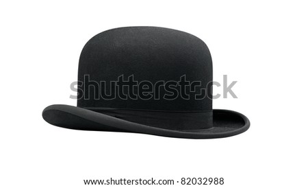 a bowler hat isolated on a white background #82032988