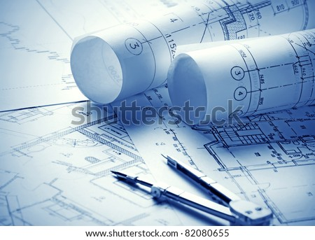 Part of architectural project Royalty-Free Stock Photo #82080655