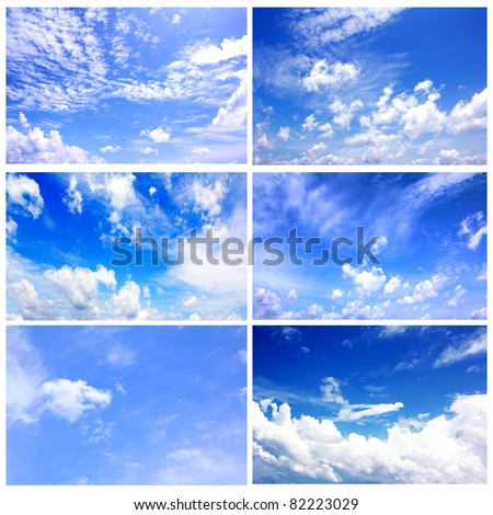Set of six blue Sky daylight collection #82223029