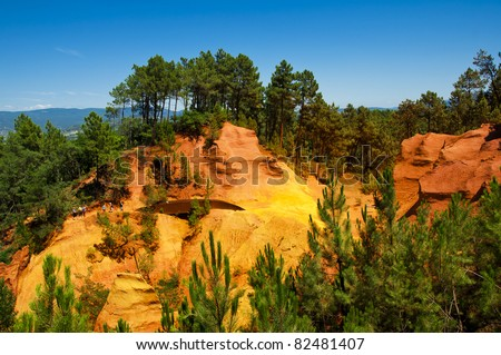 Red Cliffs in Roussillon, Provence, France #82481407