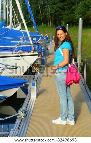 Girl on pier #82498693
