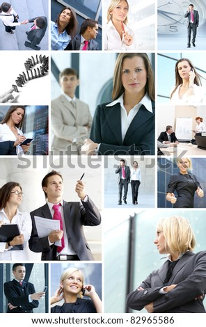 Business collage made of many business pictures #82965586