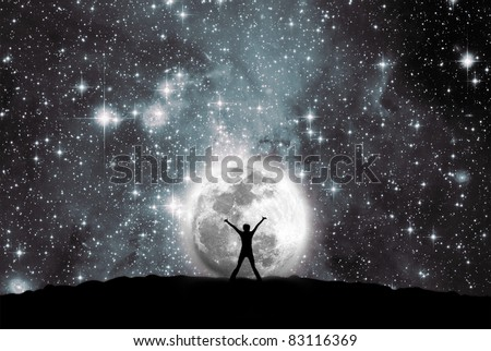 Space, moon and man #83116369