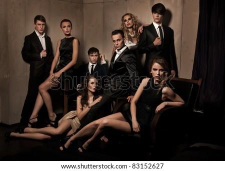Group of elegant people #83152627