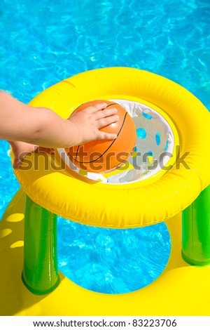 basketball in a pool #83223706