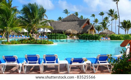 Relaxing pool in Caribbean #83525566
