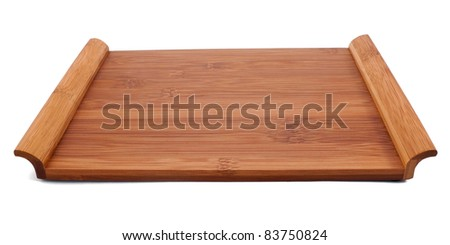 Wooden sushi table isolated on white #83750824