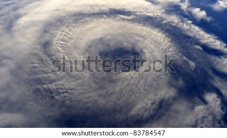 A Hurricane on Earth viewed from space (rendered image)