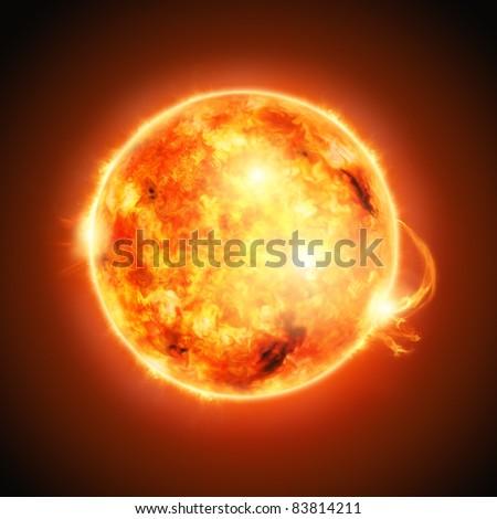 The Sun, half way through it's main-sequence evolution.