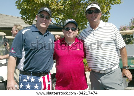 MOORPARK, CA - AUG. 29: Scotty Medlock (L) with guests at the 4th annual Scott Medlock-Robby Krieger Concert & Golf Classic on Aug. 29, 2011 at the Moorpark Country Club in Moorpark, California. #84217474