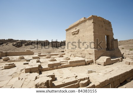Remains of the temple of cleopatra and the temple of Isis at Dendera #84383155