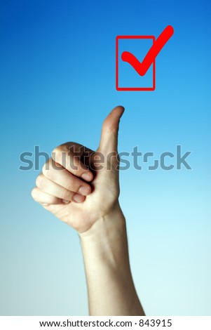 Signs and Symbols for Thumbs Up - Good - Yes - Checked Box #843915