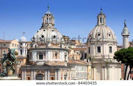 Chiesa del Santissimo Nome di Maria al Foro Traiano and Santa Maria di Loreto in Rome, Italy #84403435