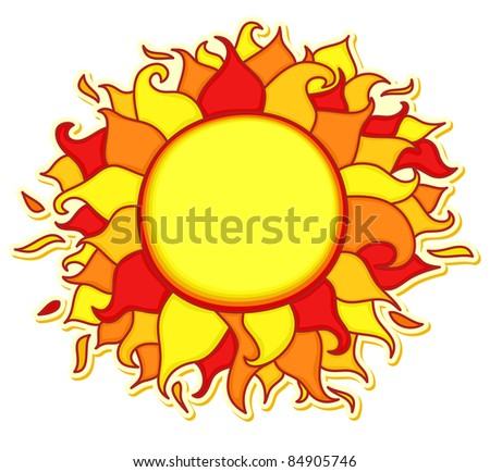 Bright and colorful sun illustration
