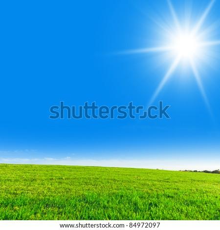 Clear Blue Sky Sun in the Sky #84972097