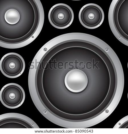 Speakers seamless background. Vector pattern #85090543