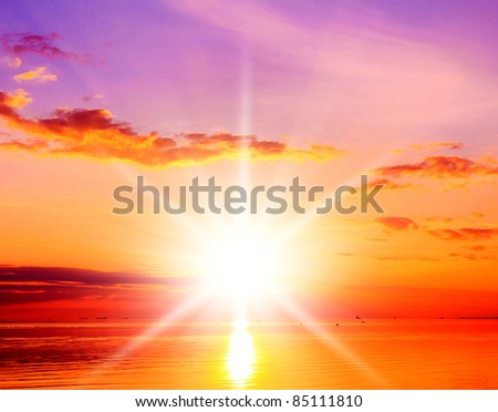 Sun Rising Glowing Atmosphere #85111810