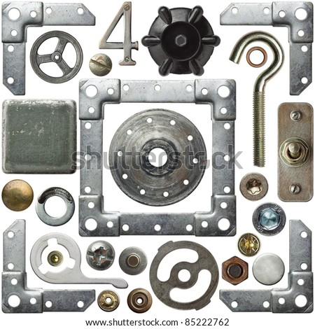 Screw heads, frames and other metal details #85222762