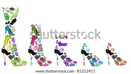 collection of different shoes isolated #85252411